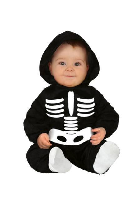 Guirca Disfraz de esqueleto para bebé - Talla 6 a 12 meses