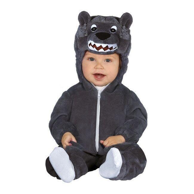 Guirca Disfraz de lobo feroz para bebé - Talla 12 a 24 meses