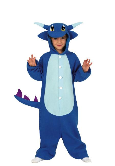 Guirca Disfraz de dragón azul Salamence Pokemon infantil - Talla 3 a 4 años