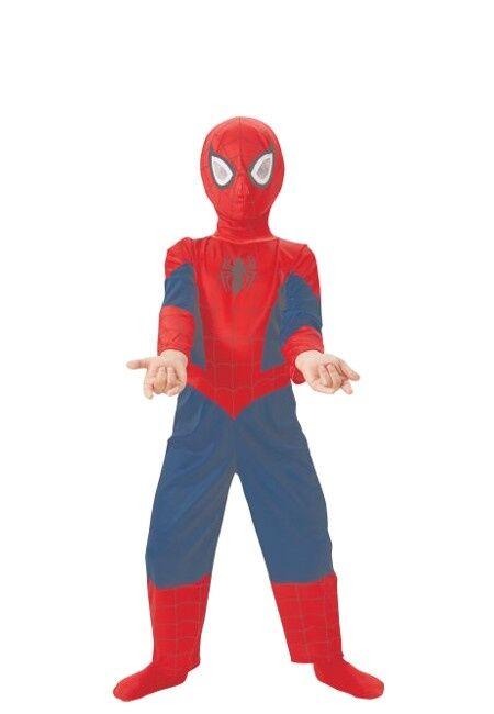 Rubies Disfraz de Spiderman classic infantil con licencia oficial - Talla 7 a 8 años