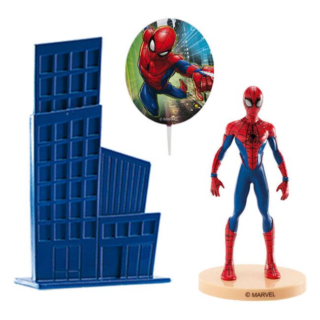 Decoración para tarta de Spiderman - 3 unidades