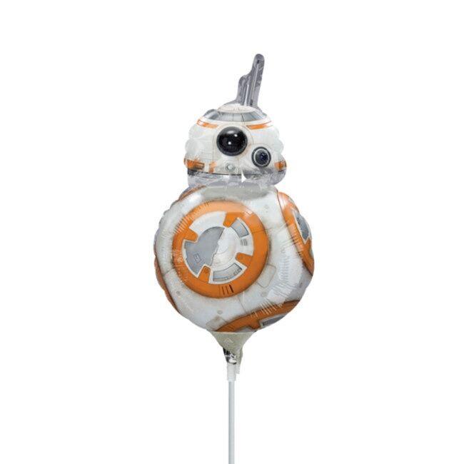 Globo hinchado con varilla de Star Wars IX BB-8 de 18 x 30 cm