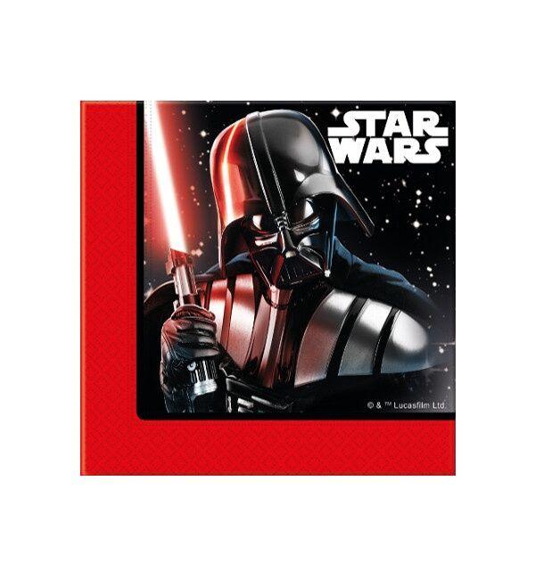 Servilletas de Star Wars Darth Vader de 33 x 33 cm - 20 unidades
