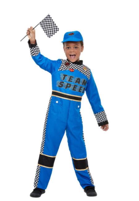 Smiffys Disfraz de piloto de fórmula 1 infantil - Talla 4 a 6 años