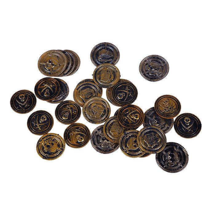 Bolsa de monedas pirata envejecidas - 30 unidades