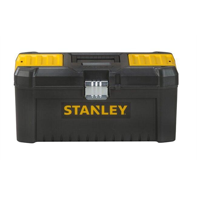 """Norauto Caja Herramientas Stanley 16""""/40cm https://www.norauto.es/p/caja-herramientas-stanley-16-40cm-2124257.html https://s3.medias-norauto.es/images_produits/caja-herramientas-stanley-40cm-2124257/650x650/caja-herramientas-stanley-16-40cm--2124257.jpg Caja de herramientas STANLEY con cierres metálicos y asa ergonómica. Dispone de organizadores integrados en la tapa y una bandeja interior extraíble. Además tiene un orificio para candado y su bandeja interior es extraíble. Medidas: 40,6 x 20,5 x 19,5 cm  Cierre metálico. Asa ergonómica. Organizadores integrados en la tapa. Bandeja interior extraíble. Orificio para candado. Sustituir una pieza Herramientas Varios herramienta específica 9.95 EUR 001 5.9 desde 5 dias Domicilio Península, GRATIS a partir de 100€ 1  2124258 3253561755156 Caja Herramientas Stanley 12.5""""/32cm"""