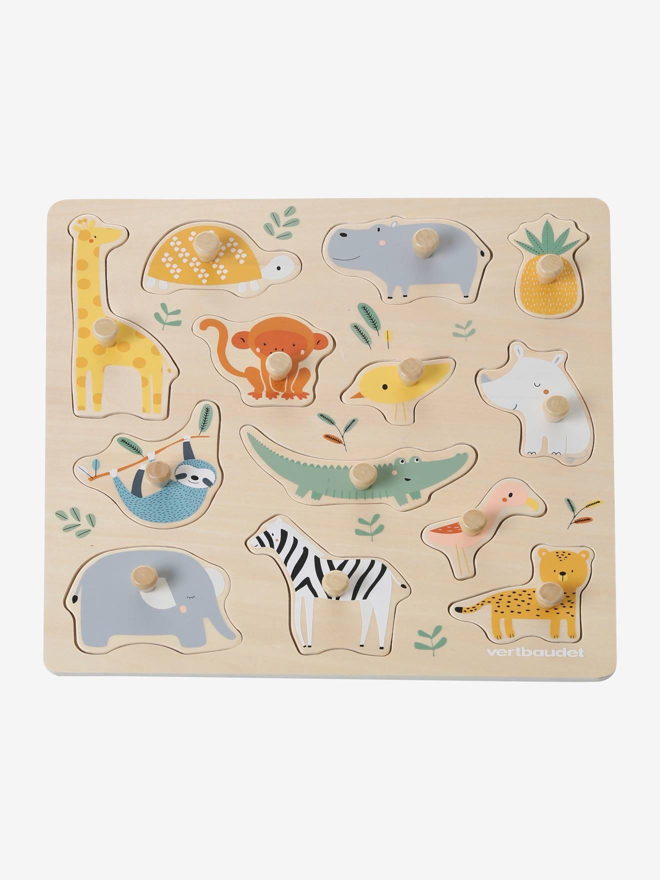 VERTBAUDET Puzzle con botones Selva no color