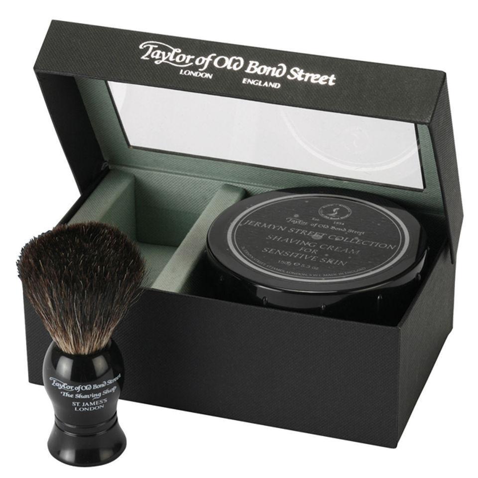 Taylor Of Old Bond Street Set de afeitado con brocha de pelo de tejón auténtico y cremade afeitar colección Jermyn Street de