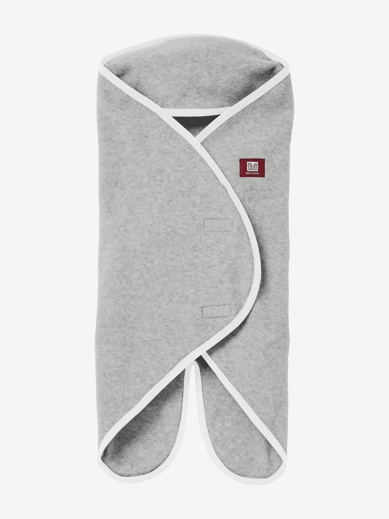 RED CASTLE Swaddle RED CASTLE Babynomade® con forro polar, 2 tallas, desde el nacimiento hasta 12 meses gris claro