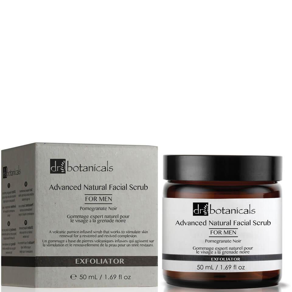 Dr Botanicals Exfoliante facial natural avanzado de granada negra de Dr Botanicals para hombre 50 ml