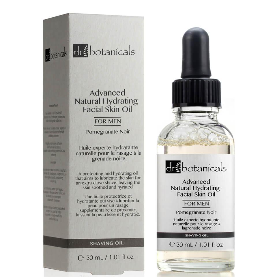 Dr Botanicals Aceite facial hidratante natural avanzado de granada negra para hombre de Dr Botanicals 30 ml