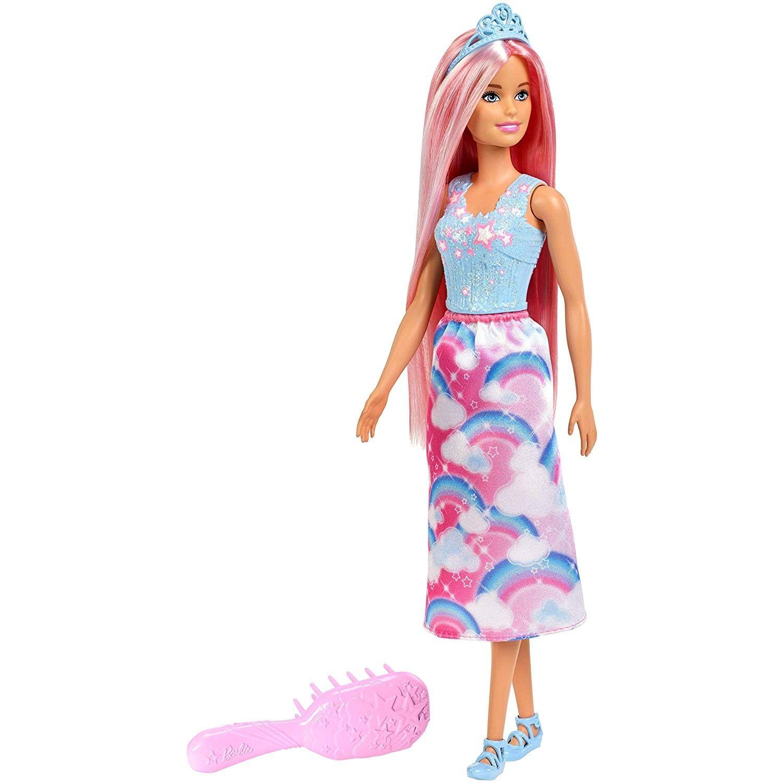 Barbie Dreamtopia, Muñeca peinados rubia con accesorios