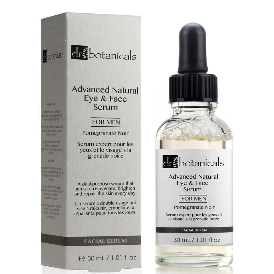 Dr Botanicals Sérum facial y de ojos natural avanzado de granada negra para hombre de Dr Botanicals 30 ml