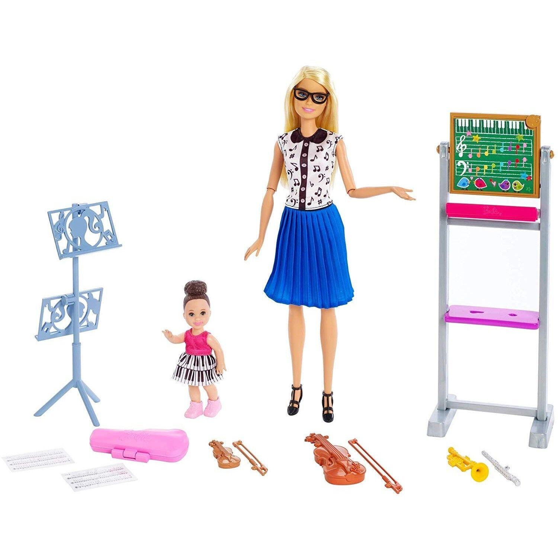 Barbie Quiero Ser Profesora De Música Muñeca Con Muñeca Bebé Y Accesorios Mattel