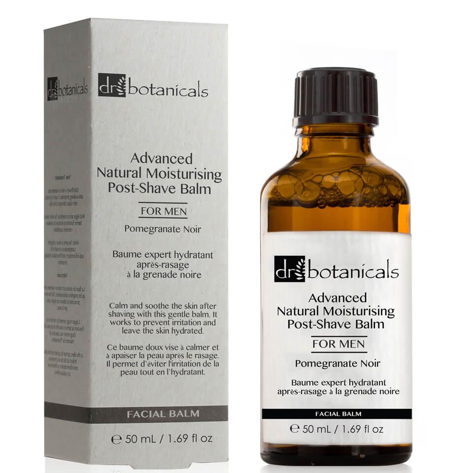 Dr Botanicals Bálsamo hidratante natural avanzado para después del afeitado de granada negra para hombre de Dr Botanicals 50 ml