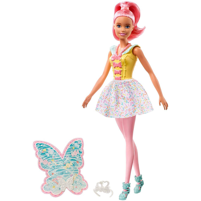 Barbie Dreamtopia - Muñeca Hada rosa con accesorios