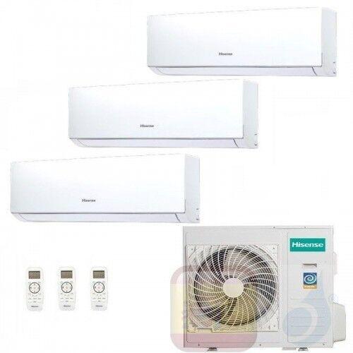 Hisense Aire Acondicionado Tres Split 7+7+12 Btu New Comfort Wifi Opc Dj20yd00g+ Dj20yd00g+ Dj35ve0ag+ 3amw72u4rfa A++ A+ R-32