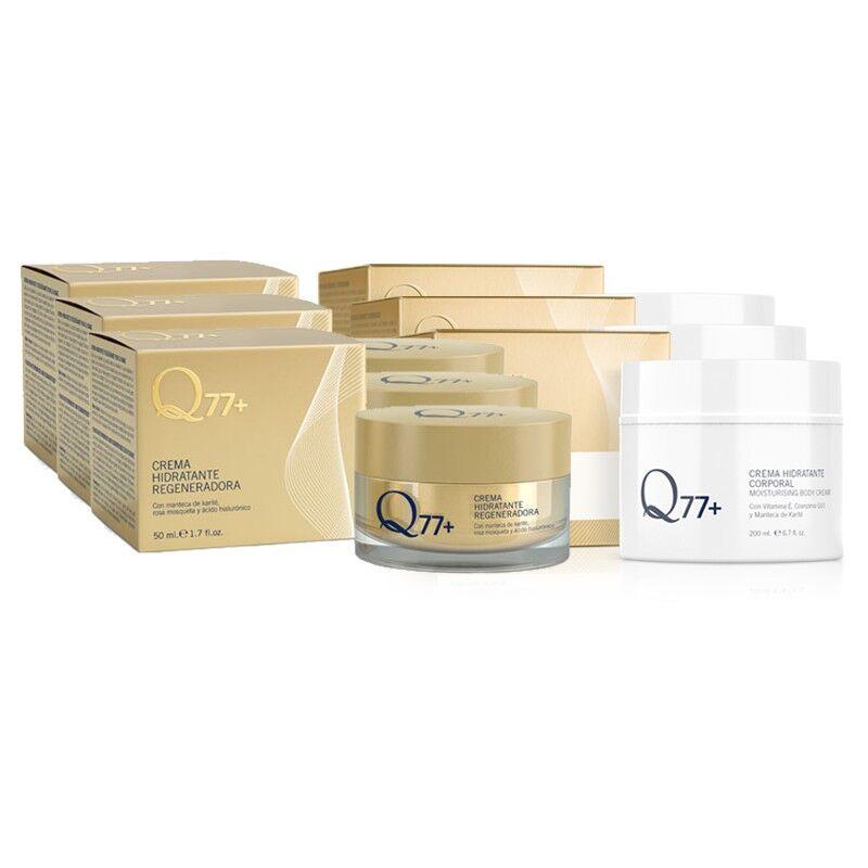 Q77+ Pack 3 x Crema Hidratante + 3 x Crema Hidratante Corporal