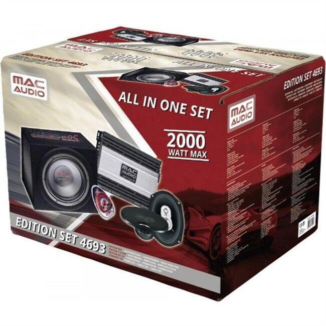 Norauto Kit Amplificador + Subwoofer Mac Audio Edition Set 4693