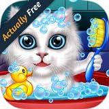 Lavar y tratar a las mascotas: ayudar a los gatos y cachorros! juego educativo libre para niños GRATIS (Actually Free)
