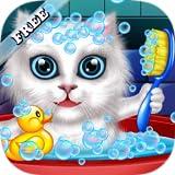 Lavar y tratar a las mascotas: ayudar a los gatos y cachorros! juego educativo libre para niños GRATIS