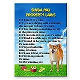 Shiba Inu propiedad Leyes imán para nevera no 1