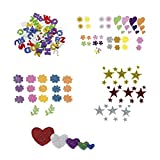 Smart 5000 - Pack de 58 flores de goma Eva, multicolor