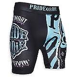 Pride or Die Vale Tudo Pantalones Cortos Z-campo - MMA BJJ Compresión Grappling Gimnasia Short - negro/verde, S