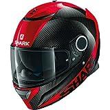 HE5000EDRRS - Shark Spartan Carbon Skin Motorcycle Helmet S Red (DRR)