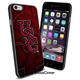 (disponible para iPhone 4,4s, 5, 5S, 6, 6Plus) n.c.a.a, deporte universitario colesteremia gallos de pelea, iPhone 4 5 o 6 Cool Smartphone funda iPhone TPU caso de goma recaudador negro [por Lucky9Cov...