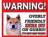 Shiba Inu Perro Guardián Cartel de Metal 10fl oz lavavajillas 222