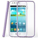 Funda protectora OneFlow para funda Samsung Galaxy S3 Mini Carcasa silicona TPU 1,5mm | Accesorios cubierta protección móvil | Funda móvil paragolpes bolso traslúcida transparente en Indego-Violet