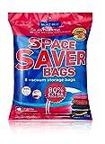 Bolsas de almacenaje al vacío Premium (8pack 100 x 80CM ) Bolsas Extra Gruesas que permiten ahorrar Espacio * 8 bolsas Jumbo + Bomba Manual GRATIS para Viajes. Cierre con doble cremallera.