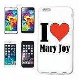 """cubierta del teléfono inteligente iPhone 6+ Plus """"I Love Mary Joy"""" Cubierta elegante de la cubierta del caso de Shell duro de protección para el teléfono celular Apple iPhone ... en blanco ... delg..."""