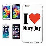 """cubierta del teléfono inteligente Samsung Galaxy S6 """"I Love Mary Joy"""" Cubierta elegante de la cubierta del caso de Shell duro de protección para el teléfono celular Samsung Galaxy S6 ... en blanco ..."""