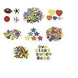 Smart 68001000 - Pack de 52 formas deportes con pelota adhesivo de goma Eva, 30 x 20 cm, multicolor
