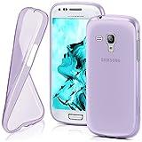 Funda protectora OneFlow para funda Samsung Galaxy S3 Mini Carcasa silicona TPU 0,7 mm | Accesorios cubierta protección móvil | Funda móvil paragolpes bolso traslúcida transparente en Viola