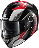HE5002EDRAS - Shark Spartan Carbon Bionic Motorcycle Helmet S Red Anthracite (DRA)