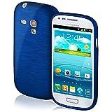 Funda protectora OneFlow para funda Samsung Galaxy S3 Mini Carcasa silicona TPU 1,5mm | Accesorios cubierta protección móvil | Funda móvil paragolpes bolso cepillado aluminio diseño en Navy-Blue