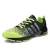 Sollomensi Zapatos para Correr en Montaña y Asfalto Aire Libre y Deportes Zapatillas de Running Padel para Hombre Verde 41
