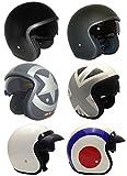 Casco de la Motocicleta Jet Casco Cascos Abiertos VIPER RS-V06 Casco de Moto Con Visera Nuevos Colores (S, Matt Negro)