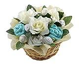 Super Deluxe flor cesta, regalo para recién nacido. verde verde Talla:3-6 months