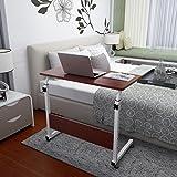 KHSKX Moda abatible portátil de mesa, cama extraíble elevación escritorio , Walnut color