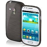 Funda protectora OneFlow para funda Samsung Galaxy S3 Mini Carcasa silicona TPU 1,5mm | Accesorios cubierta protección móvil | Funda móvil paragolpes bolso cepillado aluminio diseño en Slate-Black