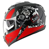 Shark s700s Casco Trax Mat KRA Black Grey Red M