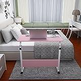 BBSLT-Moda abatible portátil de mesa, cama extraíble elevación escritorio , Pink