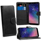 Para Samsung Galaxy S3 Mini i8190 Negro Funda Plegable de Cuero + Pantalla