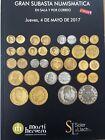 Catálogo de subastas de monedas de Martí Hervera y Soler y Llach. Mayo 2017.