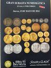 Catálogo de subastas de monedas de Martí Hervera y Soler y Llach. Mayo 2014.