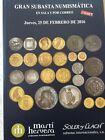 Catálogo de subastas de monedas de Martí Hervera y Soler y Llach. Febrero 2016.
